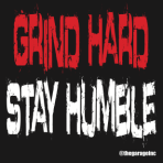 Grind Hard Stay Humble Block Sticker
