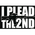 I Plead the 2nd Sticker