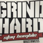 Grind Hard Stay Humble (white lettering)